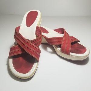 Cole Haan x Nike Air Red & White Sandal / 10